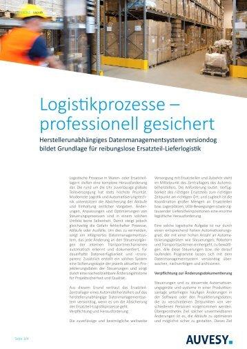 Anwenderbericht - Logistikprozesse professionell gesichert