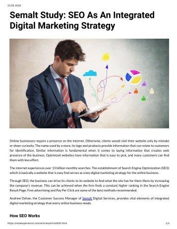 Semalt Study SEO As an Integrated Digital Marketing Strategy