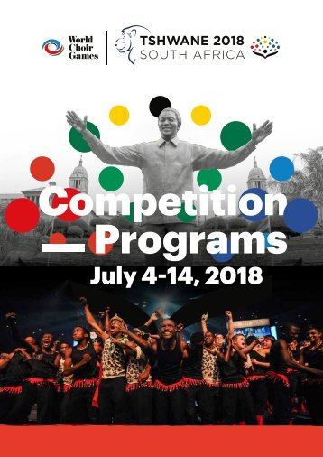 World Choir Games Tshwane 2018 - Competition Program - July 13