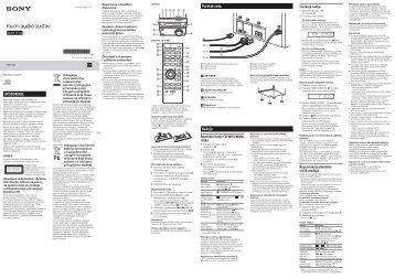 Sony CMT-S20 - CMT-S20 Mode d'emploi Croate