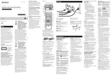 Sony CMT-S20 - CMT-S20 Mode d'emploi Portugais