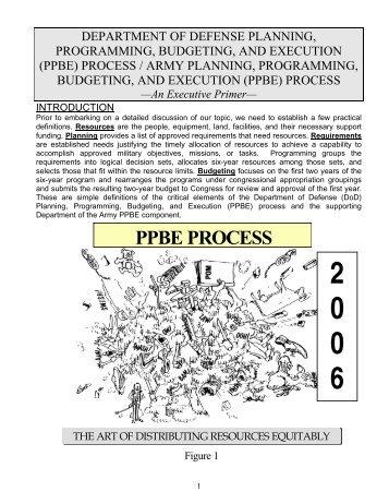 Army PPBE Executive Primer - AcqNotes.com