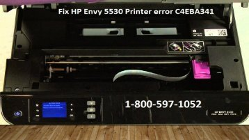 Call 1-800-597-1052 Fix HP Envy 5530 Printer error Code C4EBA341