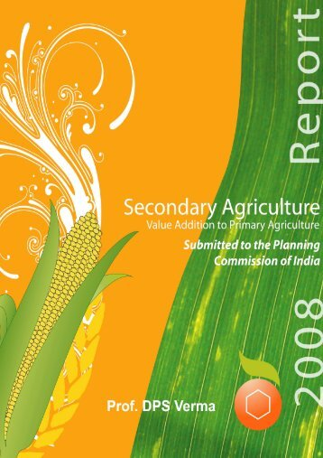 Report on Secondary Agriculture - Punjab State Planning Board
