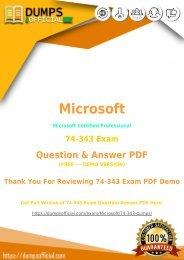 Microsoft 74-343 Exam Questions