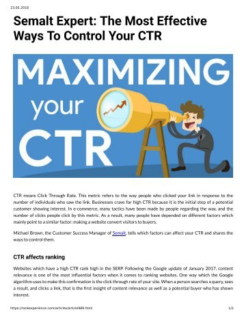 989 Semalt Expert The Most Effective Ways to Control Your CTR