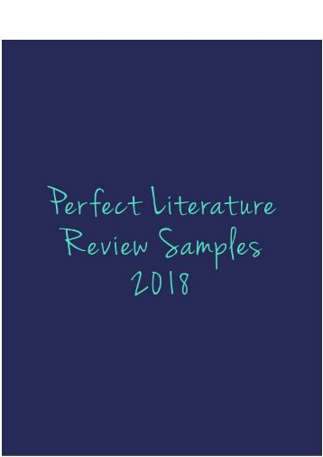 Perfect Literature Review Sample 2018