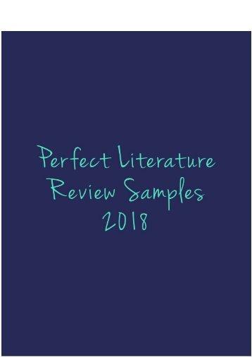 Perfect Literature Review Sample 2018
