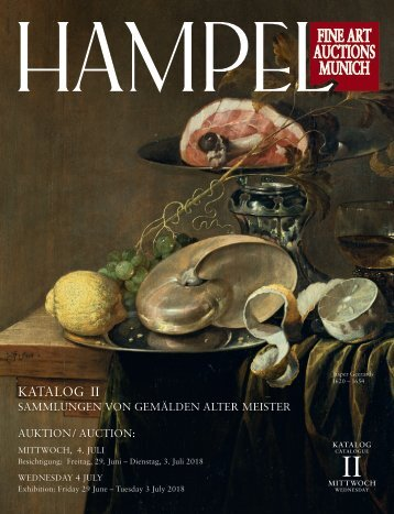 Gemälde Alter Meister - Katalog 2 - Juli 2018