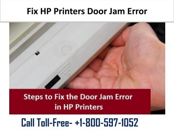 Fix HP Printers Door Jam Error 1-800-597-1052