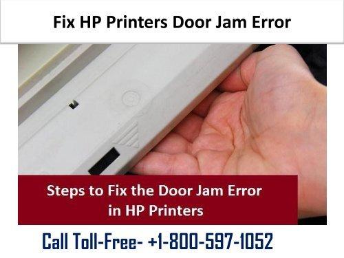 Fix HP Printers Door Jam Error 1-800-597-1052