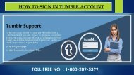 Tumblr Sign in/Log In, Dial 1-800-209-5399 For Step by step Tutorial
