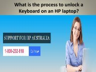 What is the process to unlock a Keyboard