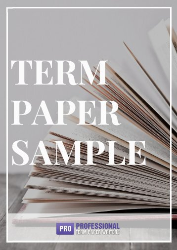 Example of Term Paper Outline