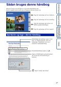 Sony DSC-W350D - DSC-W350D Consignes d'utilisation Danois - Page 2