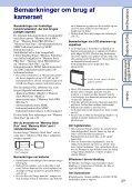 Sony DSC-W350D - DSC-W350D Consignes d'utilisation Danois - Page 3