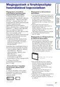 Sony DSC-W350D - DSC-W350D Guide pratique Hongrois - Page 3
