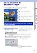 Sony DSC-W350D - DSC-W350D Guide pratique Suédois - Page 2