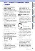 Sony DSC-W350D - DSC-W350D Consignes d'utilisation Espagnol - Page 3