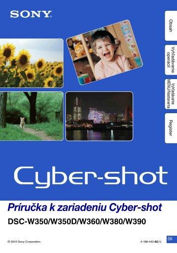 Sony DSC-W350D - DSC-W350D Guide pratique Slovaque