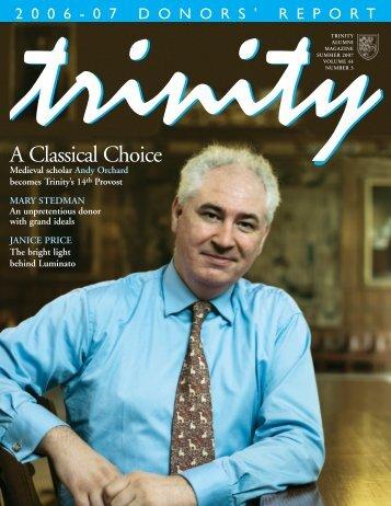 Summer 2007 - Trinity College - University of Toronto