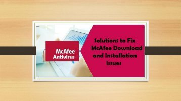 1-800-583-7461| How to Fix McAfee Download and Installation issues?