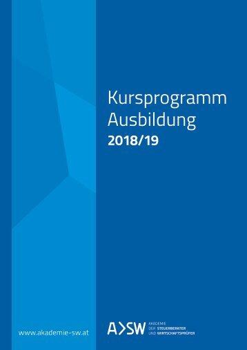 Kursbuch 2018/19 - Akademie der Steuerberater und Wirtschaftsprüfer GmbH