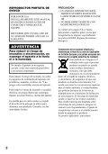 Sony D-VE7000S - D-VE7000S Consignes d'utilisation Espagnol - Page 2