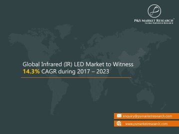 Infrared (IR) LED Market Opportunities, Size, Share, Trends, Revenue, Growth and Demand by 2023