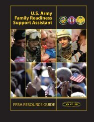 U.S. Army Family Readiness Support Assistant - US Army War College