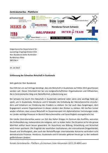 Zentralamerika NGO-Plattform - Guatemalanetz Bern