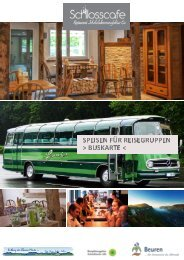 Buskarte Reisegruppen Touristik Schlosscafe Restaurant in Beuren