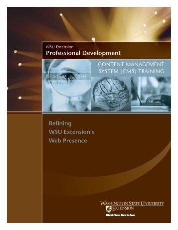 WSU Extension Professional Development