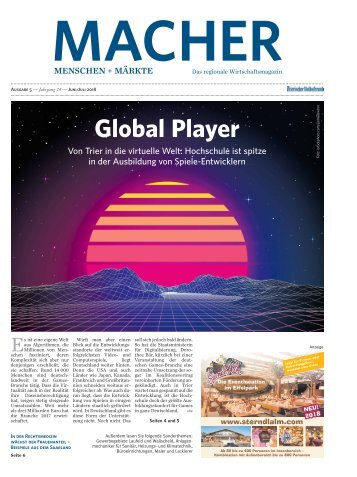 MACHER Menschen + Märkte - Ausgabe 5, Juni/Juli 2018