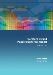 Northern Ireland Peace Monitoring Report - Cain - University of Ulster