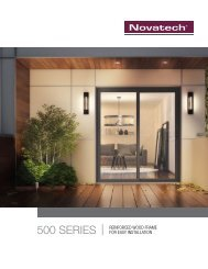 500 Series - Novatech Patio Doors