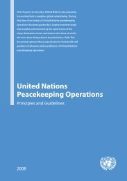 United Nations Peacekeeping Operations: Principles and Guidelines