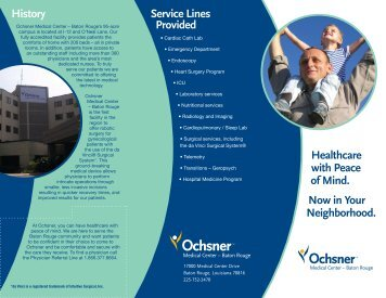 Healthcare with Peace of Mind. Now in Your ... - Ochsner.org