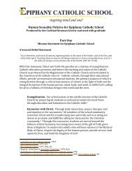 Human Sexuality Policies for Catholic Schools for Epipany 2018 Final