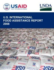 US INTERNATIONAL Food Assistance Report - Foreign Agricultural ...