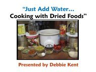 Just Add Water… Cooking with Dried Foods - Peace of Preparedness