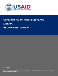 usaid office of food for peace liberia bellmon estimation - USAID-BEST