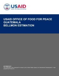 usaid office of food for peace guatemala bellmon estimation