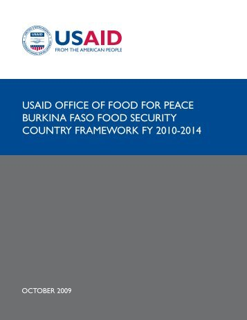 USAID Office of Food for Peace Burkina Faso - US Agency for ...