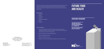 future food and health provisional programme - The Nutrition Society