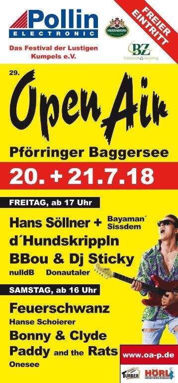 Open Air Pförring Flyer 2018