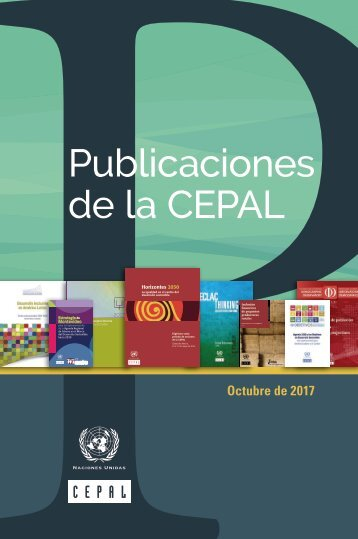Catálogo semestral de publicaciones de la CEPAL