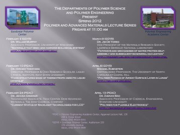 (PAM) Lecture Series - The University of Akron
