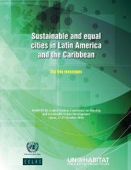 Sustainable and equal cities in Latin America and the Caribbean: Six key messages