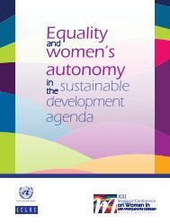 Equality and women's autonomy in the sustainable development agenda